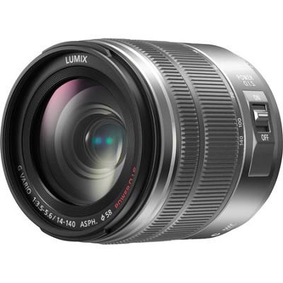LUMIX G H-FS14140S VARIO 14-140mm F3.5-5.6 ASPH. POWER O.I.S. Silver Lens