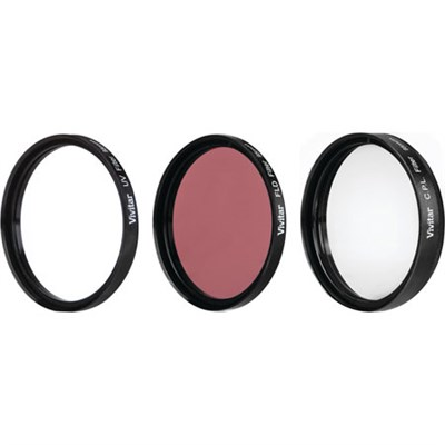 VIVFK3-95 3 Piece UV, CPL, FLD 95mm Filter Kit with Filter Wallet