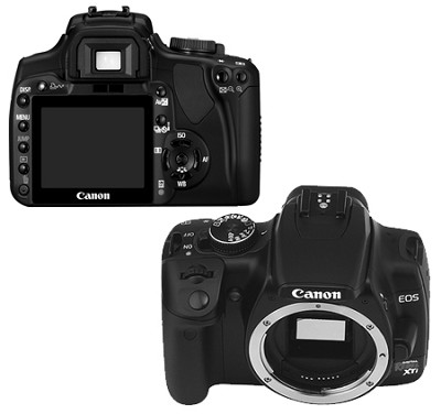 EOS Digital Rebel XTi Body (Black)  -  Lens Not Included - OPEN BOX