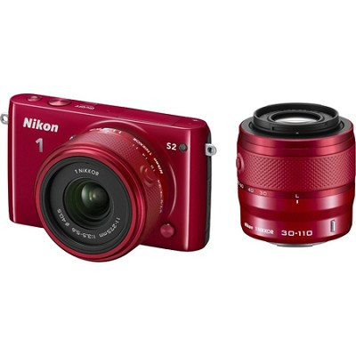 1 S2 Mirrorless Digital Camera with 11-27.5mm and 30-110mm Lens - Red