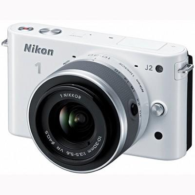 1 J2 SLR White Digital Camera w/ 10-30mm VR Lens