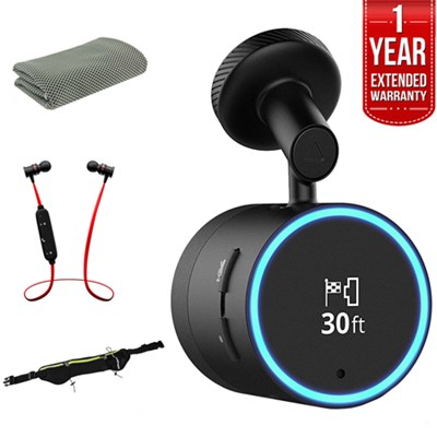 Speak Plus with Amazon Alexa and built-in Dash Cam (Black) + Warranty Bundle