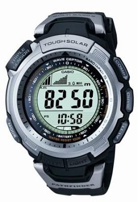 PAW1300-1V - Black Pathfinder Multi-Band Atomic Solar Triple Sensor Watch
