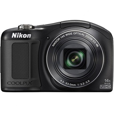 COOLPIX L620 18.1 MP CMOS 14x Zoom 1080p HD Digital Camera - Black