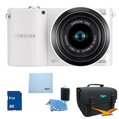 NX1000 20.3 MP Compact System Camera PRO Kit (White)