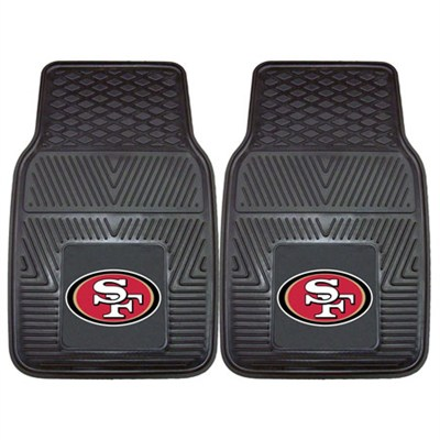 NFL San Francisco 49ers Vinyl Heavy Duty Car Mat - Set of Two