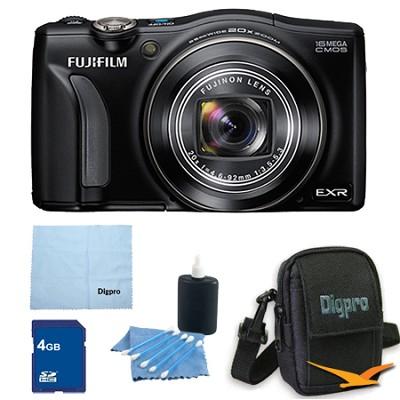 FinePix F750EXR 16MP EXR CMOS Digital Camera 4 GB Bundle (Black)