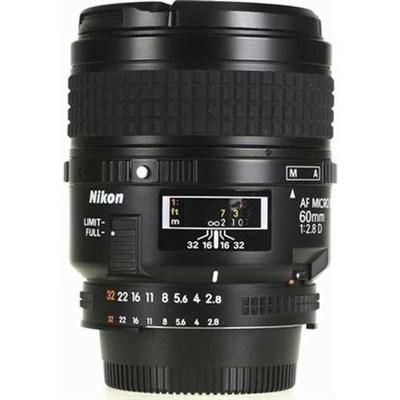 60mm F/2.8D Micro AF Nikkor Lens - Refurbished