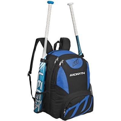 Baseball/Softball Equipment and Bat Backpack Bag, Royal