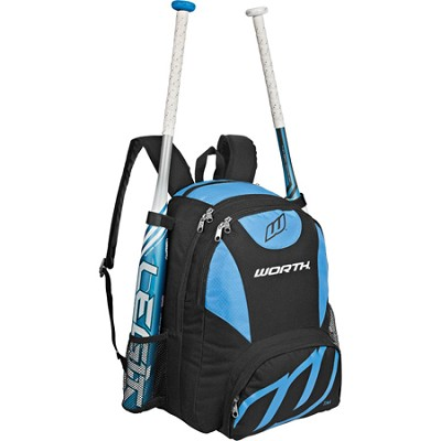 Baseball/Softball Equipment and Bat Backpack Bag - Columbia Blue