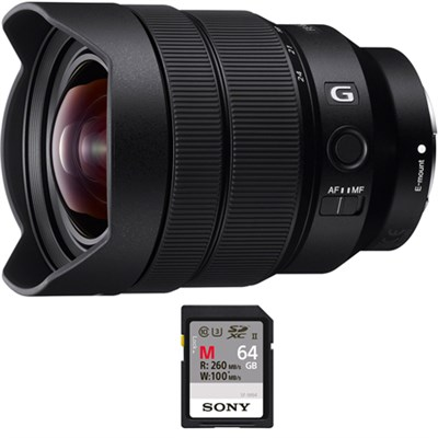 FE 12-24mm F4 G E-Mount Ultra Wide-angle Zoom Lens with 64GB Memory Card