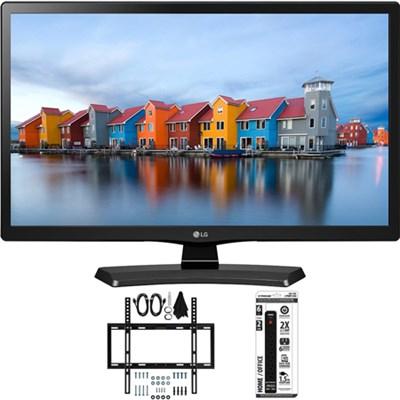 28LH4530 28-Inch LED HD 720p HD TV Slim Flat Wall Mount Bundle