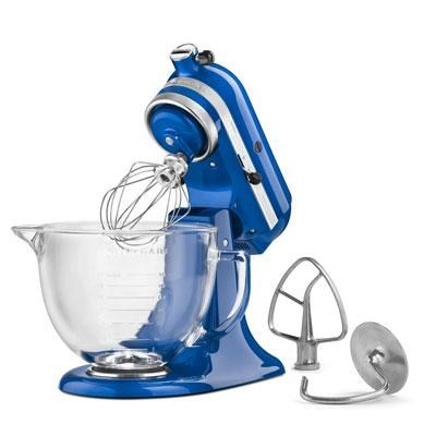 Artisan Series 5-Quart Stand Mixer in Blueberry with Glass Bowl - KSM155BGUB