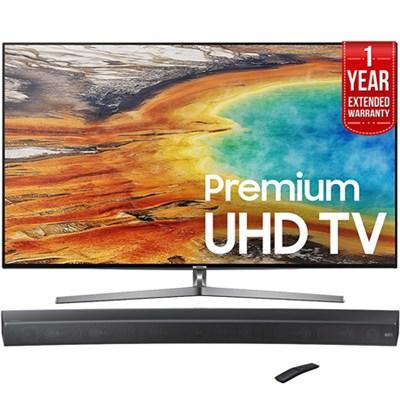 UN75MU9000 74.5` 4K UHD Smart LED TV +Curved Premium Soundbar +Extended Warranty