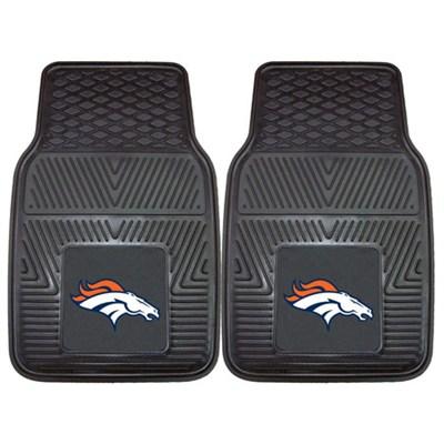NFL Denver Broncos Vinyl Heavy Duty Car Mat - Set of Two