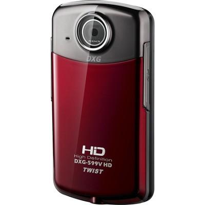 DXG-599V Twist 1080p Red Pocket Camcorder