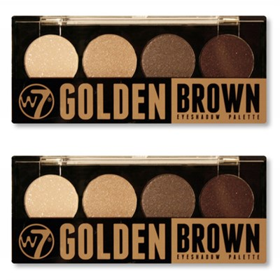 Quad-Eyeshadow Palette Golden Brown - 2 Pack