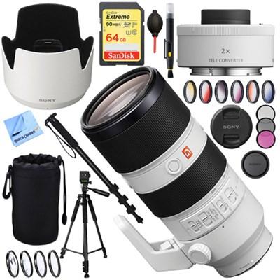 FE 70-200mm F2.8GM OSS E-Mount Lens SEL70200GM with Sony Teleconverter Lens Kit