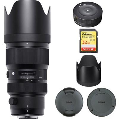 50-100mm F1.8 DC HSM Lens for Sigma SA Mount  693956 with USB Dock Bundle