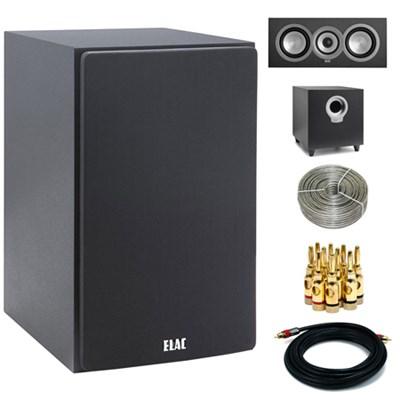 DB51-BK Debut Series B5 5 & 1/4` Bookshelf Speaker Pair w/ Center Speaker Bundle
