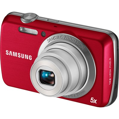 PL20 Dualview 14MP 5x Zoom Red Digital Camera