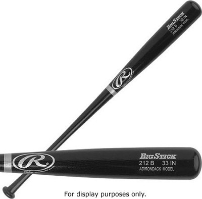 Adult Black Ash Wood Baseball Bat 34`