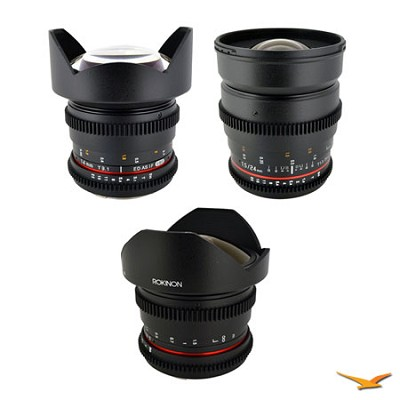 Sony Alpha 3 Cine Lens Kit (14mm T3.1, 24mm T1.5, 8mm T3.8)