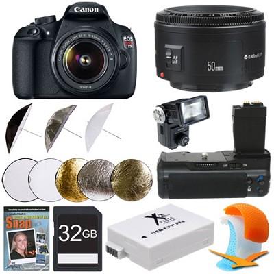 EOS Rebel T5 SLR Digital Camera Portrait Photographer Bundle