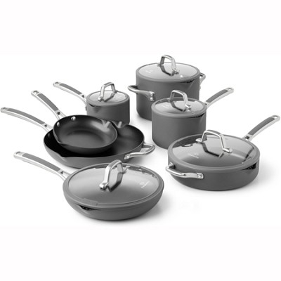 Easy System 12-pc. Cookware Set: Charcoal Gray - 1831236
