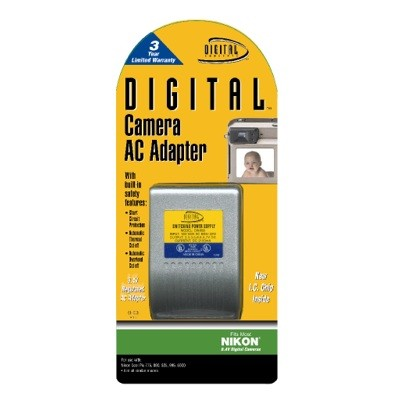 AC Adapter f/ Nikon 8.4V Digital Cameras