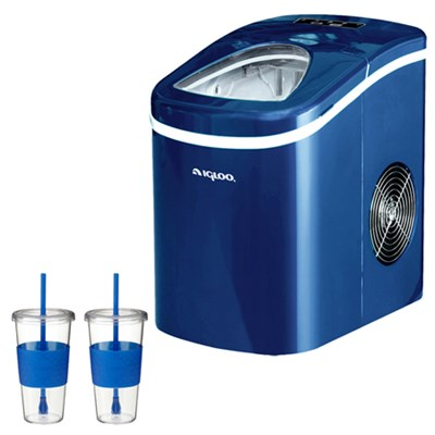 Compact Ice Maker (Blue) With 2x Eco First Togo Cup Mug
