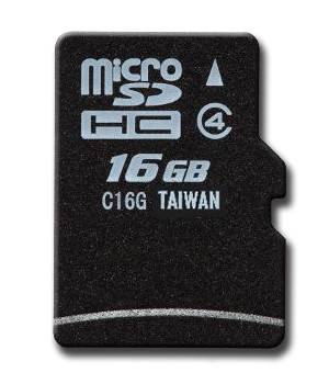 16GB MicroSDHC Class 4  Memory Card (Non Retail Package)