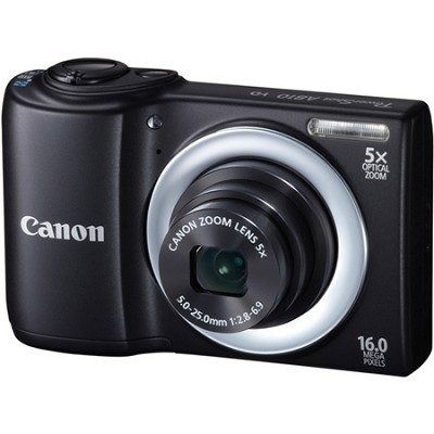 PowerShot A810 16MP Black Digi Camw/ 5x Zoom & 720p HD Video - OPEN BOX