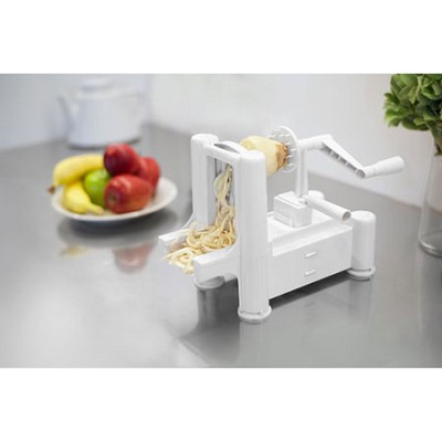 Slice-A-Roo Ultimate Tri-Blade Vegetable and Fruit Peeler Spiralizer - White