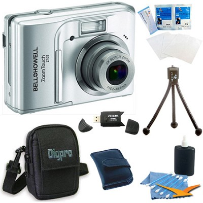 Z10T ZoomTouch 10 MP Silver Digital Camera Bundle