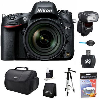 D600 24.3 MP CMOS FX-Format Digital SLR Camera w/ 24-85mm Lens and SB-700 Kit
