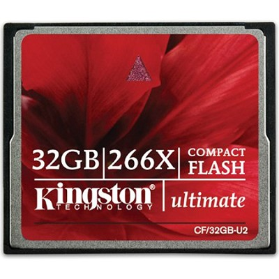 32GB Ultimate Compact Flash 266x Memory Card