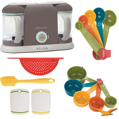 Babycook Pro2X Baby Food Processor and Steamer - Latte - Deluxe Bundle