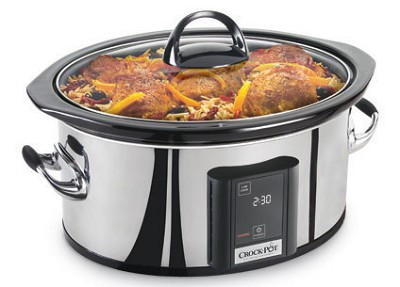 6.5 Quart Programmable Touch Screen Slow Cooker, Polished Stainless Steel