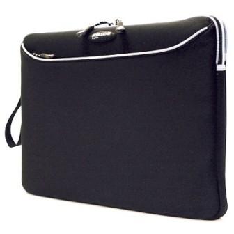 MESS115 Neoprene SlipSuit for Laptops up to 15.4` (Black w/Platinum Trim)