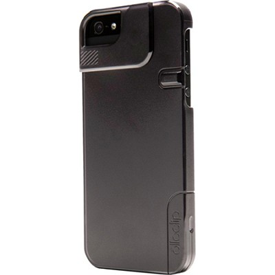 Quick Flip Case for iPhone 4/4S + Pro Photo Adapter, Translucent Black