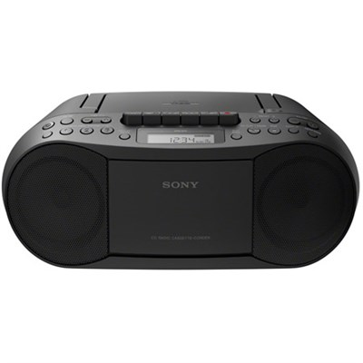 Stereo CD Cassette Boombox Radio (Black) - CFDS70BLK - OPEN BOX