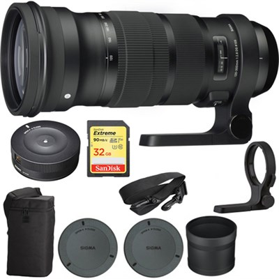 120-300mm F2.8 DG OS HSM Telephoto Zoom Lens for Canon w/ USB Dock Bundle