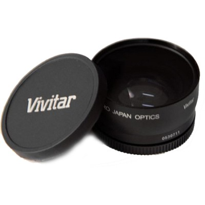 VIV-58T 58mm Threading Pro 2x Professional Telephoto Lens Converter (Black)