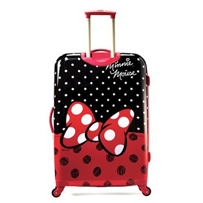 67613-4754 28` Hardside Spinner - Minnie Mouse Red Bow