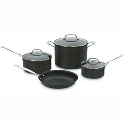Chef's Classic Nonstick Hard-Anodized 7-Piece Cookware Set