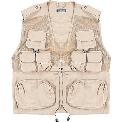 Combat Tactical Vest Khaki X-Large