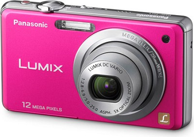 DMC-FH1P LUMIX 12.1 Megapixel Digital Camera (Pink)