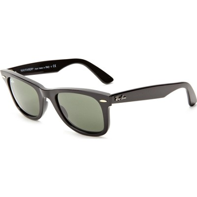 Original Wayfarer Sunglasses 50MM Black,W/Green Lens