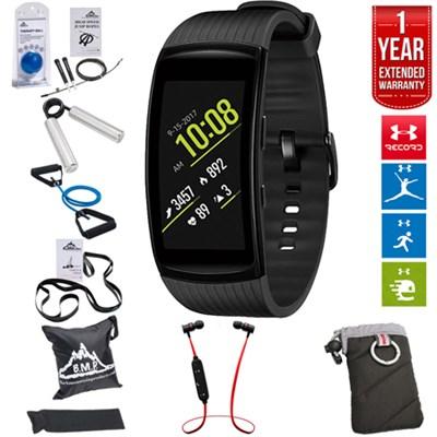 Gear Fit2 Pro Fitness Smartwatch Black (S)+Fitness Kit+Extended Warranty